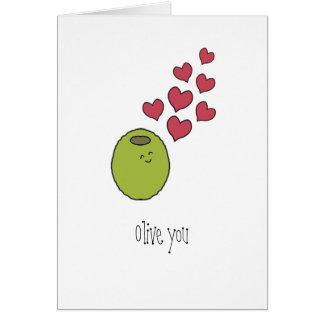 """""""Olive vous"""" masquez la carte de voeux"""