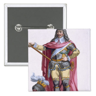Oliver Cromwell (1599-1658) 1780 (engravi coloré Pin's