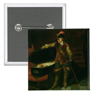 Oliver Cromwell avec le cercueil de Charles I Badges
