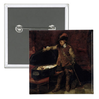 Oliver Cromwell ouvrant le cercueil de Charles Badge