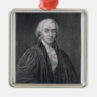 Oliver Ellsworth, gravé par E. le Mackenzie Ornement Carré Argenté