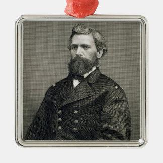 Oliver Otis Howard (1830-1909), gravé par Robert Ornement Carré Argenté