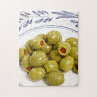 Olives vertes portugaises puzzle avec photo
