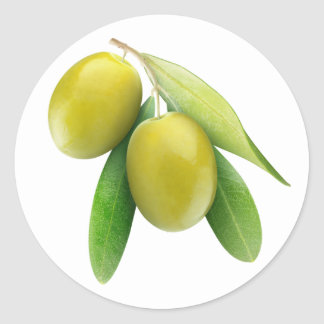Olives vertes sticker rond