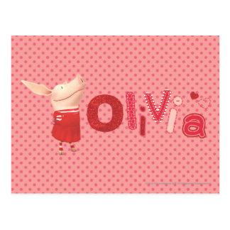 Olivia - 1 carte postale
