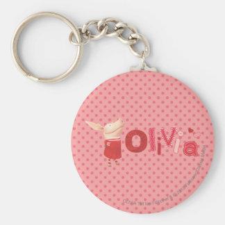 Olivia - 1 porte-clé rond