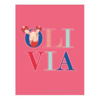 Olivia - 3 carte postale