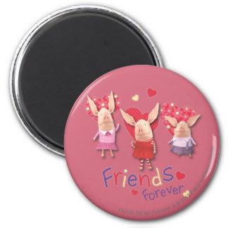 Olivia - amies pour toujours magnet rond 8 cm