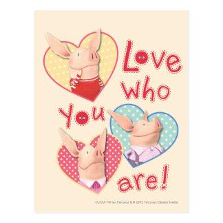 Olivia - amour qui vous êtes carte postale