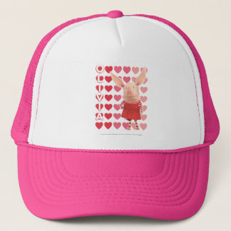 Olivia - arrière - plan de coeur casquette