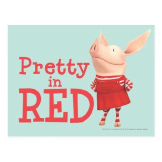 Olivia - assez en rouge carte postale