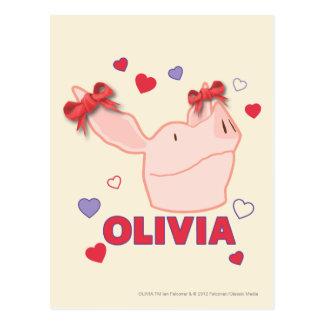 Olivia - coeurs carte postale