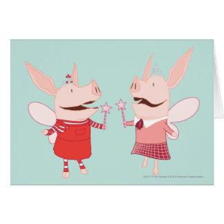 Olivia et Francine - fée Carte De Vœux
