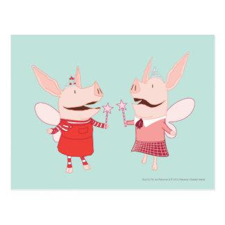 Olivia et Francine - fée Carte Postale
