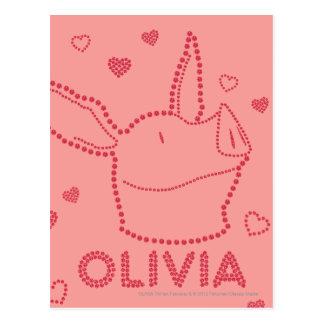 Olivia - étincelles carte postale