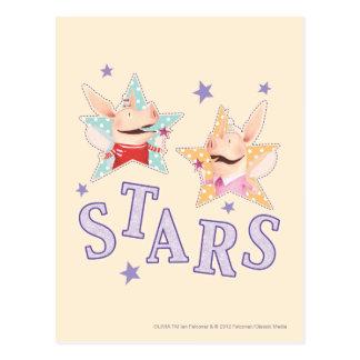 Olivia - étoiles carte postale