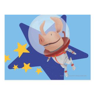 Olivia l'astronaute carte postale