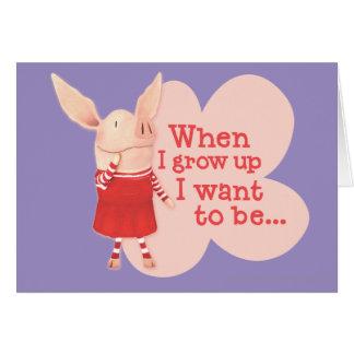 Olivia - quand je grandis carte de vœux