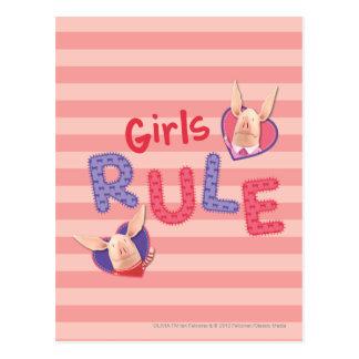 Olivia - règle de filles cartes postales