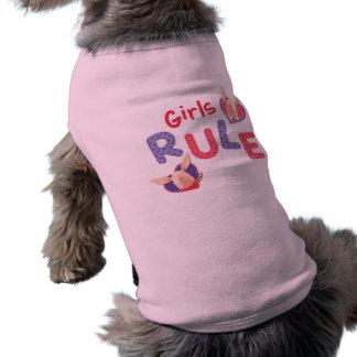 Olivia - règle de filles tee-shirts pour toutous