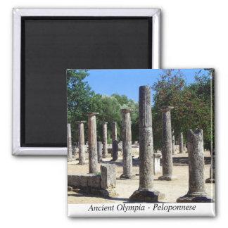 Olympia antique - Péloponnèse Magnet Carré