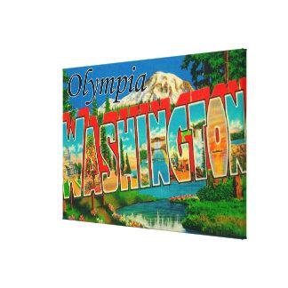 Olympia, Washington - grandes scènes de lettre Toiles