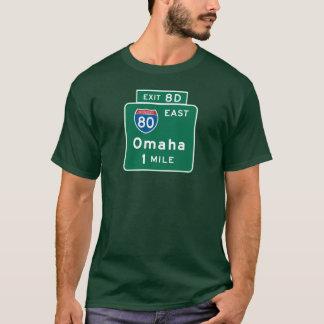 Omaha, panneau routier de Ne T-shirt