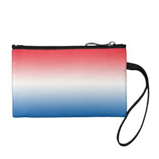 Ombre blanc et bleu rouge porte-monnaie