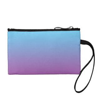 Ombre bleu et pourpre portefeuille