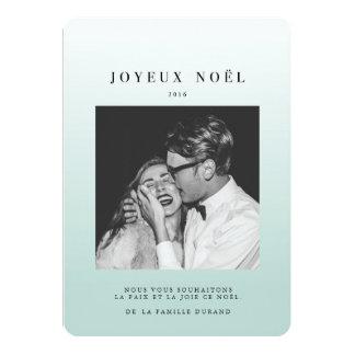 Ombré de Bleu de la photo | de noël de cartes Carton D'invitation 12,7 Cm X 17,78 Cm