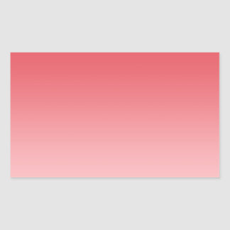 Ombre de corail sticker rectangulaire