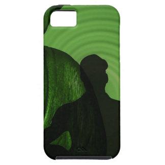 Ombre des humains devant Bouddha à la nuance verte Coque iPhone 5