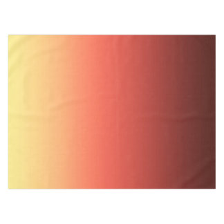 Ombre jaune rouge. nappe