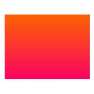 Ombre rose et orange carte postale