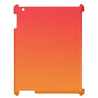 Ombre rouge et orange étuis iPad