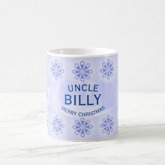 Oncle Blue Snowflake Mug de Noël par Janz