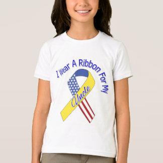 Oncle - je porte un patriotique militaire de ruban t-shirt