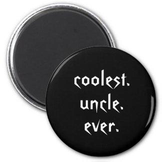 Oncle le plus frais blanc noir Ever Magnet