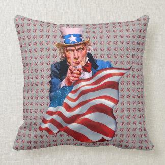 Oncle Sam et drapeau américain Oreillers