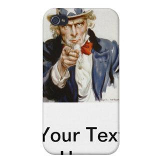 Oncle Sam vintage personnalisable Étuis iPhone 4