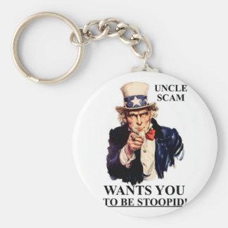 Oncle Scam Wants You d être Stoopid Porte-clé