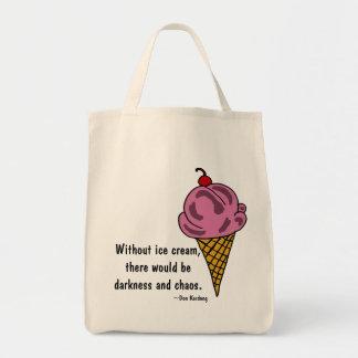ONDE ENTRETENUE sac fourre-tout drôle à crème glac