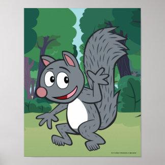 Ondulation grise d'écureuil de Rick | de garde Poster