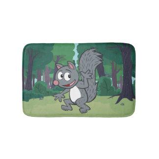 Ondulation grise d'écureuil de Rick | de garde Tapis De Bain