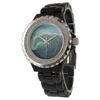 ondulez, des vagues, plage, vagues de plage, montres bracelet