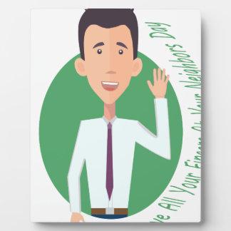 Ondulez tous vos doigts à votre jour de voisins photos sur plaques