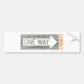 One Way-Christ Gris Orange Autocollant De Voiture