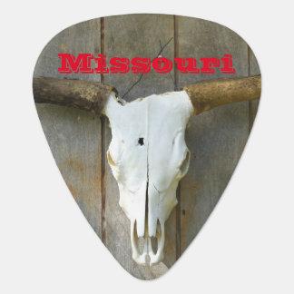 Onglet de guitare de crâne du Missouri Taureau