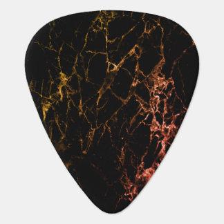 Onglet de guitare de marbre jaune et rouge de