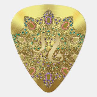Onglet de guitare de monogramme de mandala de Lion